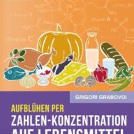 Aufblühen per Zahlen-Konzentration auf Lebensmittel