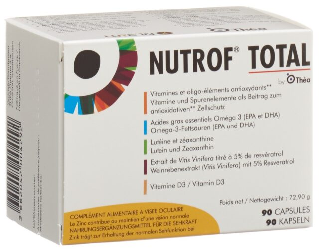Nutrof Total Vit Spurenelement Omega-3 Kapsel Vitamin D3 (90 Stück)