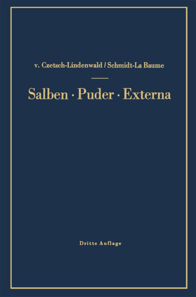 Salben · Puder · Externa