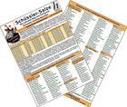 Schüssler-Salze - Der schnelle Weg zum Erfolg mit Schüssler-Kombipräparate - Medizinische Taschen-Karte